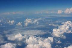 从飞机的Cloudscape 免版税库存照片