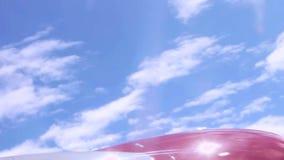从飞机舷窗的美丽的景色 股票录像