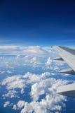 从飞机视窗的视图 免版税图库摄影