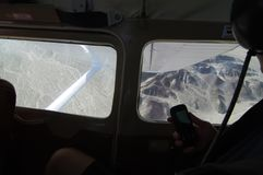 从飞机里边的纳斯卡线条 免版税库存照片