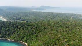 从飞行的寄生虫的顶视图空中照片一个惊人地美好的海风景用与拷贝空间的绿松石水为 影视素材