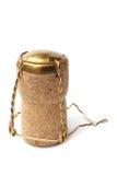 从香槟瓶的黄柏 免版税图库摄影