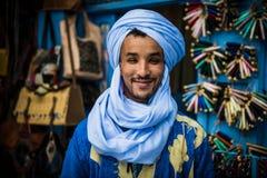 从马拉喀什Souk的卖主 免版税库存照片