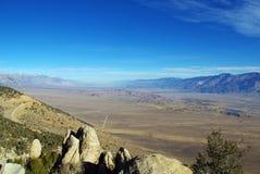 从马掌草甸路,加利福尼亚的视图 库存照片