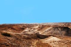 从马萨达的看法沙漠的在一好日子 库存图片