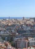 从高度的城市风景 巴塞罗那 库存图片