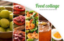 从鲜美食物的不同的图片的拼贴画 库存图片