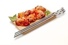 从鸡的Kebab 免版税库存图片