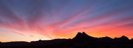 从鹅莓mesa犹他的日出 免版税库存图片