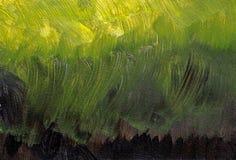 从黑色的梯度卡其色对黄色-丙烯酸酯的绘画 图库摄影