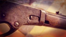从19世纪的一杆老杠杆行动步枪 库存照片