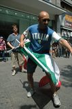 从2006年世界杯足球赛的印象在柏林从2006年7月9日在意大利之间的决赛前和法国,德国 免版税库存图片