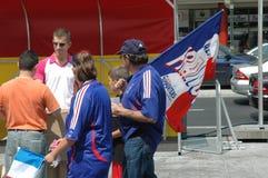 从2006年世界杯足球赛的印象在柏林从2006年7月9日在意大利之间的决赛前和法国,德国 免版税库存照片