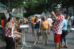 从2006年世界杯足球赛的印象在柏林从2006年7月9日在意大利之间的决赛前和法国,德国 图库摄影