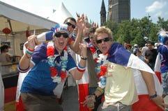 从2006年世界杯足球赛的印象在柏林从2006年7月9日在意大利之间的决赛前和法国,德国 库存照片