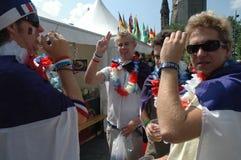 从2006年世界杯足球赛的印象在柏林从2006年7月9日在意大利之间的决赛前和法国,德国 库存图片