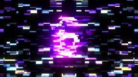 从10的五颜六色的未来派激光小故障读秒到1干涉背景从10编号到1个新的动态假日 库存例证