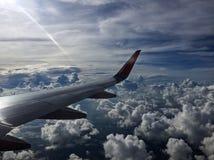 从30000英尺的云彩 免版税库存图片