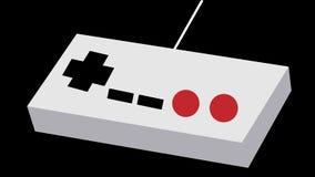 从80 ` s的灰色老减速火箭的古色古香的葡萄酒行家控制杆操作器盘区, 90 `与红色和黑按钮的s比赛统一公债的 库存例证