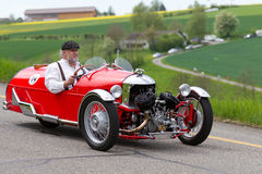 从1933年的赛车摩根超级体育运动 免版税图库摄影