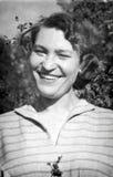 从1955年的减速火箭的女孩 免版税库存照片