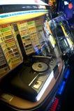 从60s的自动电唱机 库存照片