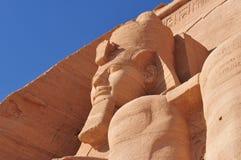 从Abu Simbel的Pharoah纪念碑 免版税库存图片