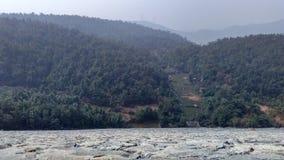 从ajodhya pahar水坝的顶视图 库存图片