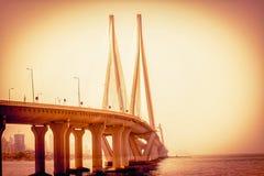 从Bandra堡垒的孟买Gateway_of_India 免版税库存照片