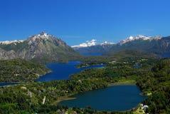 从bariloche,阿根廷的横向 免版税图库摄影