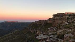 从Bermamyt高原的高加索山脉全景在日出 影视素材