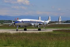 从Breitling的DC-6达可它 库存图片