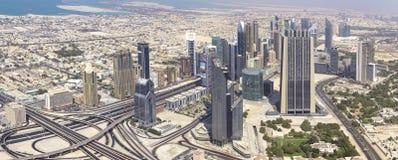 从Burj Khalifa的顶视图 库存照片