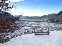 从Camorino,提契诺州的一个美妙的看法 瑞士 免版税库存图片
