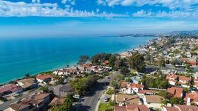 从Capistrano海滩采取的空中达讷论点 库存照片