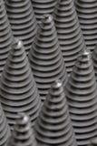 从cnc被处理的金属零件的圣诞树 那个象不是其他 方式模式数据条都市向量 钢样式 库存图片