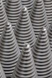 从cnc被处理的金属零件的圣诞树 那个象不是其他 方式模式数据条都市向量 钢样式 图库摄影