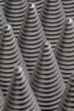 从cnc被处理的金属零件的圣诞树 那个象不是其他 方式模式数据条都市向量 钢样式 免版税图库摄影