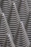 从cnc被处理的金属零件的圣诞树 那个象不是其他 方式模式数据条都市向量 钢样式 免版税库存图片