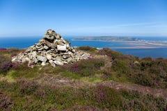 从Conwy山的视图 免版税库存图片