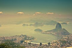 从Corcovado里约热内卢巴西的城市视图 免版税库存照片