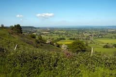 从Cotswold方式的看法在Coaley峰顶观点,格洛斯特郡,英国 库存照片