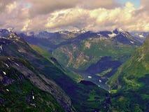 从Dalsniba的挪威视图 免版税库存照片