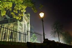 从Duncow运输路线的达翰姆大教堂 免版税库存照片