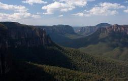 从Evan'的一个看法;s监视在蓝山山脉 图库摄影