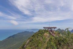 从Gunung Machinchang, Langkawi的视图 免版税库存图片