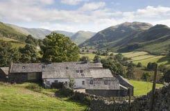 从Hallin的老农场落, Cumbria 图库摄影