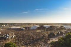 从Hellfest的风景,重金属的节日 免版税库存照片