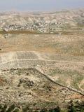 从Herodium â Herod的宫殿堡垒国王的视图II., Judean沙漠,以色列 免版税库存图片