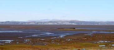 从Hest银行的英国湖区全景。 免版税库存图片